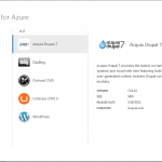 Create Azure Web Site with CMS