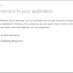 Azure Web Sites Add Linked Resource Dialog